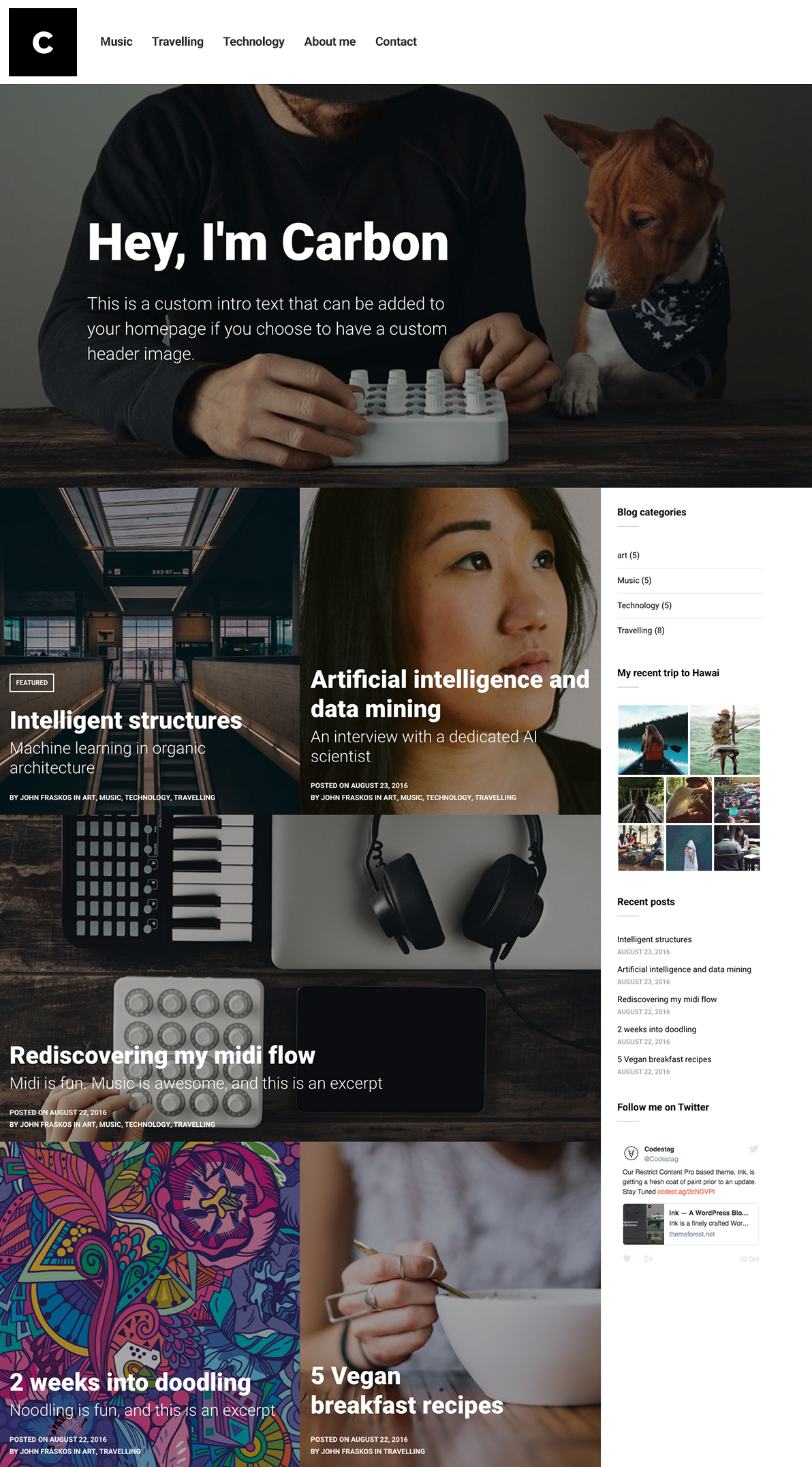 Carbon WordPress Theme