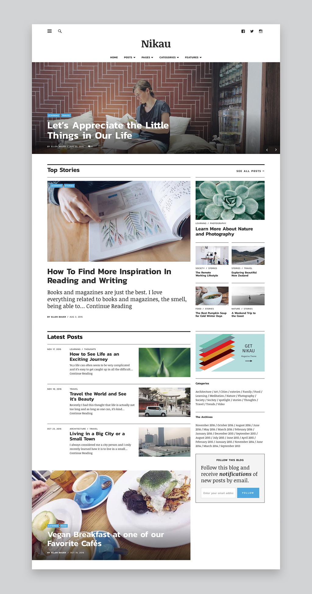Nikau WordPress Theme