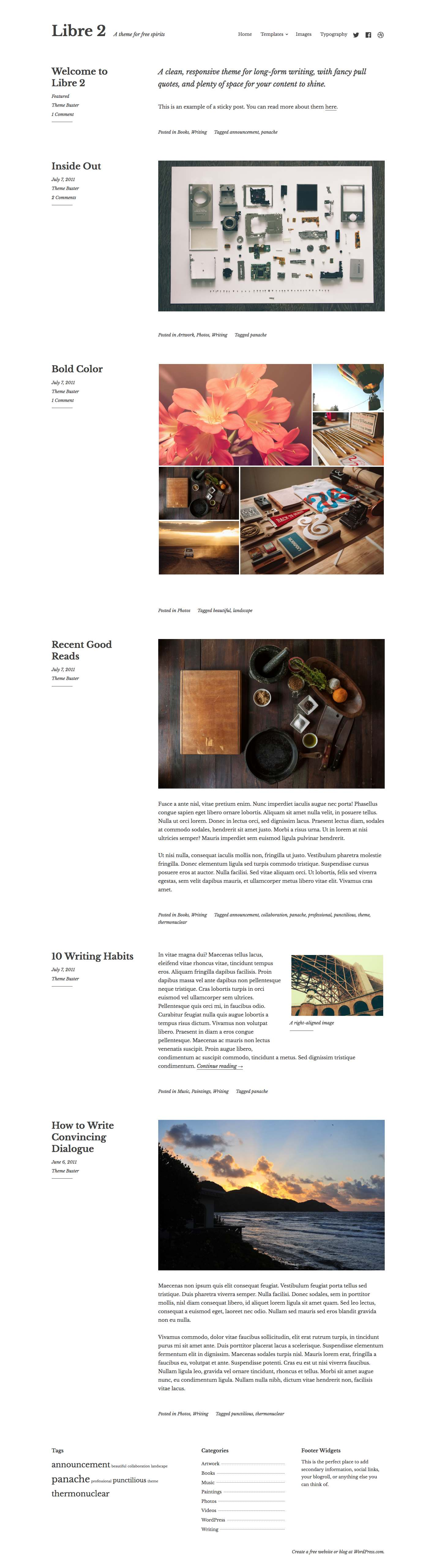 Libre 2 WordPress Theme