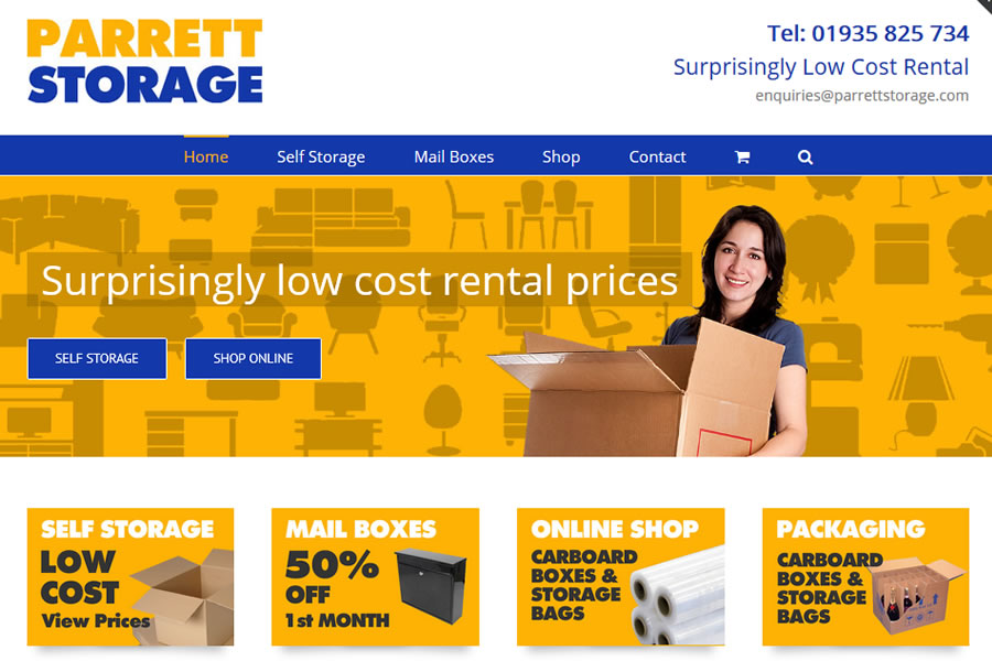 Self storage company website development in Somerset