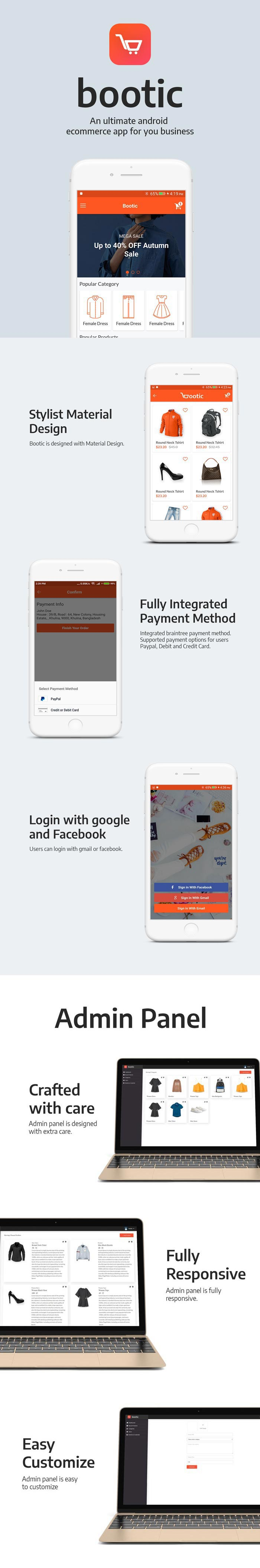 Bootic – An android eCommerce app with admin panel (Full