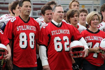 """Photo courtesy of Laurie Hansen. Howlett (#62) had a strong will to live. What was most important to him was the relationships he held with his students, participating in school events and living in the present. A former administrator at many local schools, Howlett got every involved in sports. Donna Howlett, Howlett's wife says, """"There are even kids who remember him from Benilde St. Margaret's where he started the girls hockey program, or Centennial, where he was the varsity volleyball coach- he really revamped program when they were in a slump."""""""
