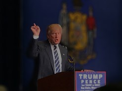 """While giving another one of his infamous speeches, Trump moved his hands in his usual leader-like manner. Suddenly the crowd erupts into chants of,""""President trump! President Trump! President Trump!"""""""