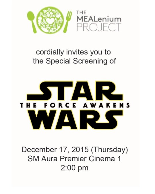 Exclusive Screening of Star Wars The Force Awakens