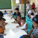 Joshua also enjoyed drawing his own bahay kubo!
