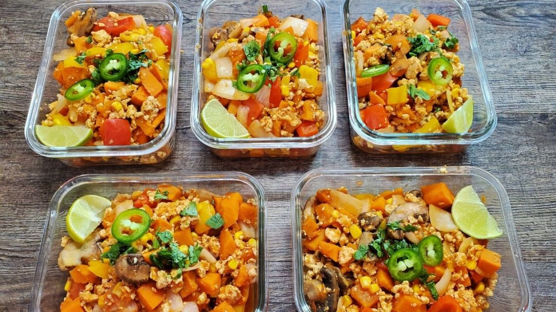 Healthy Ground Chicken Meal Prep Bowl Recipe - The Meal ...