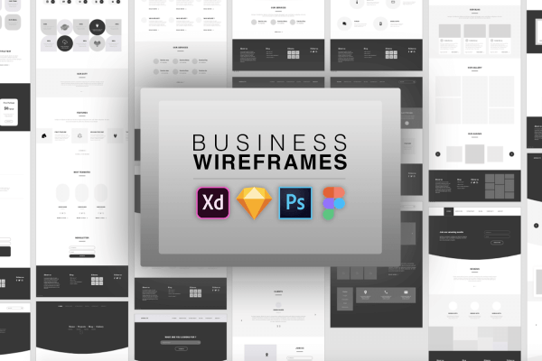 Business Wireframes UI Kit