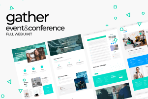 Gather | Event and Conference Web UI Kit