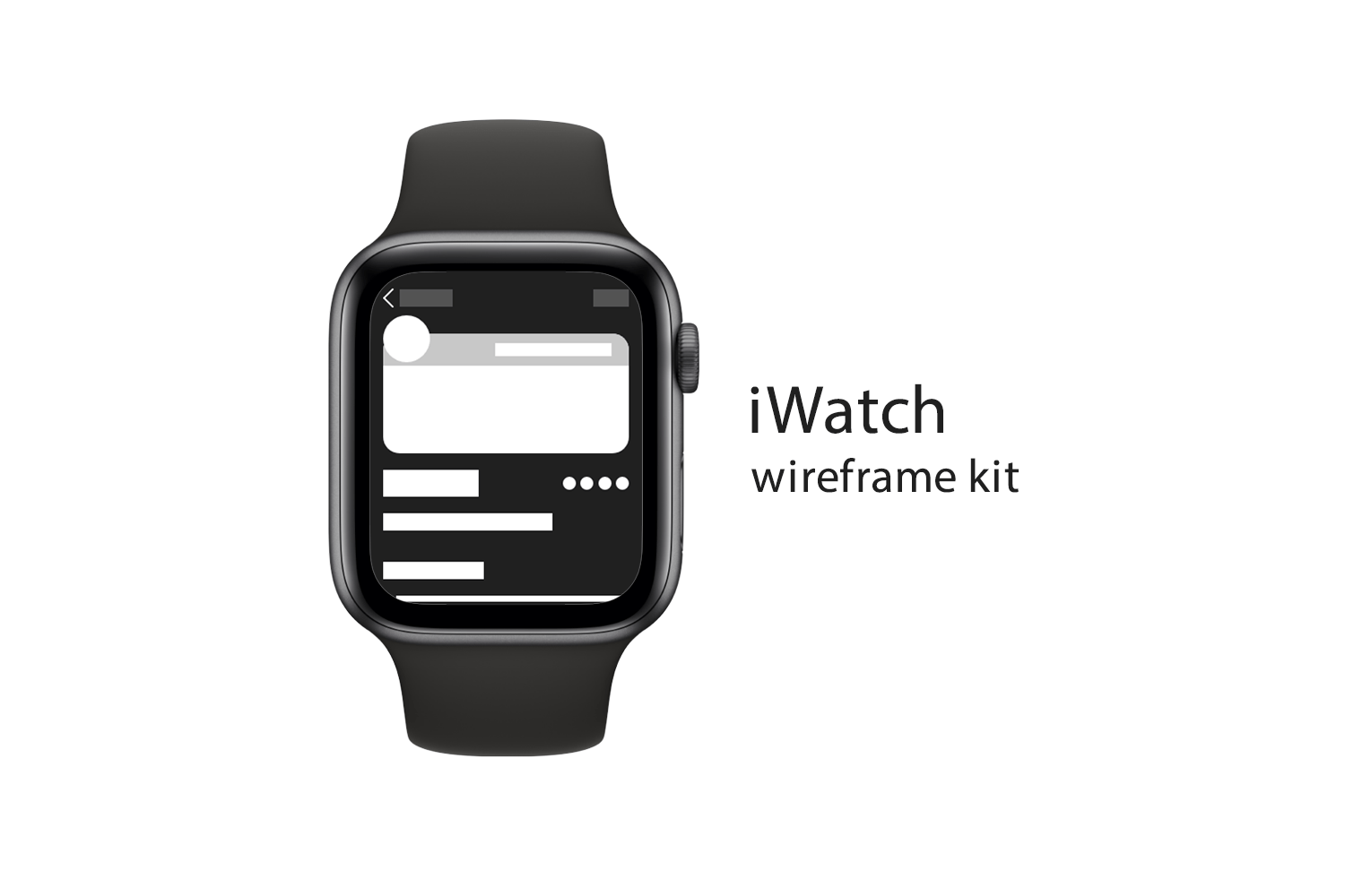 iWatch Wireframe Kit-Theme Angel