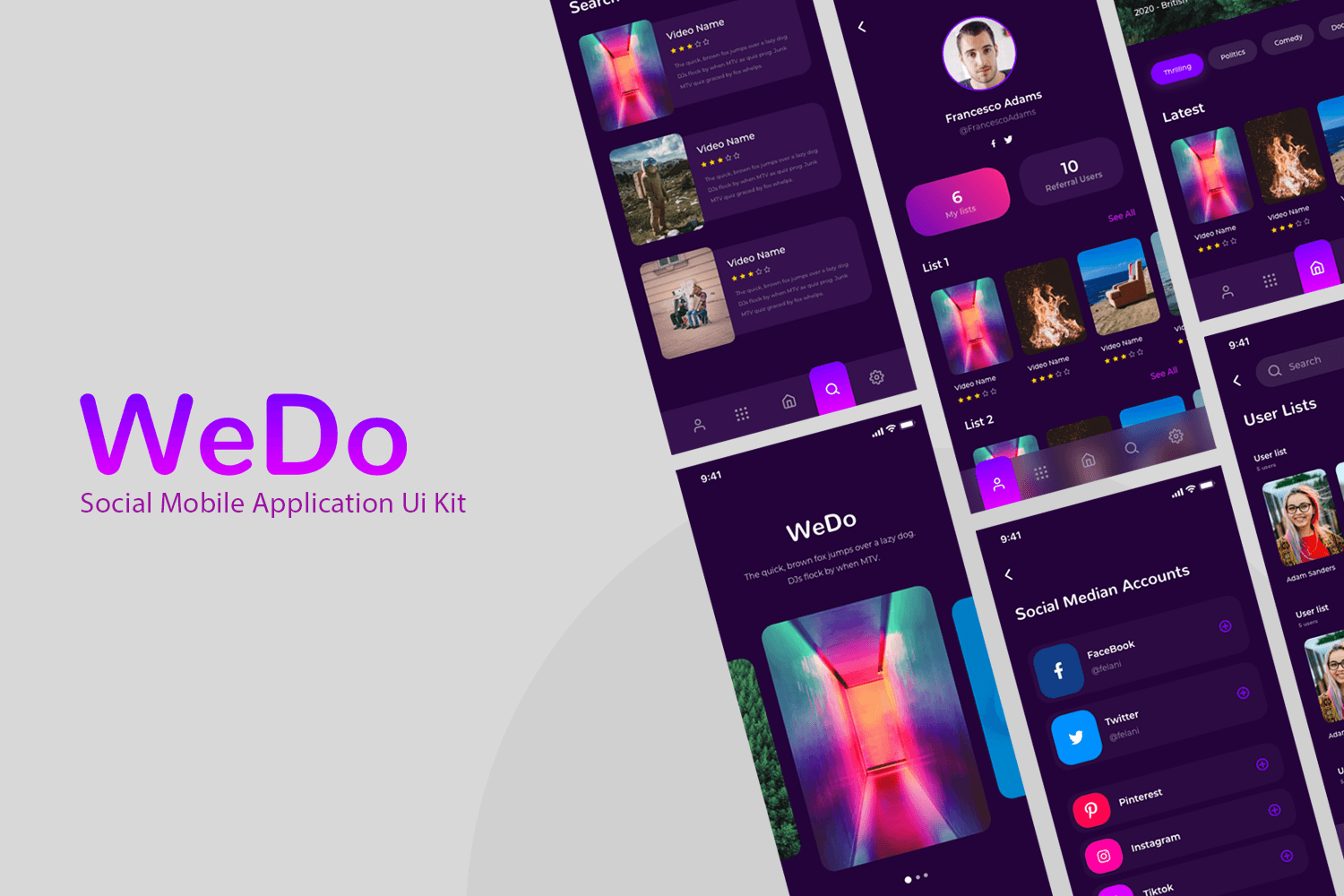 We Do - Social App UI Kit