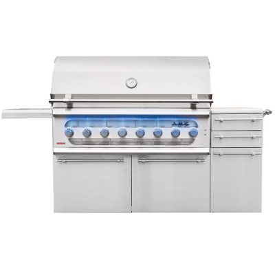 """American Muscle Grill 54"""" 8-Burner Dual Fuel Natural Gas Grill"""