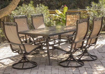 Hanover Monaca 7-Piece Cast Aluminum Outdoor Patio Dining Set