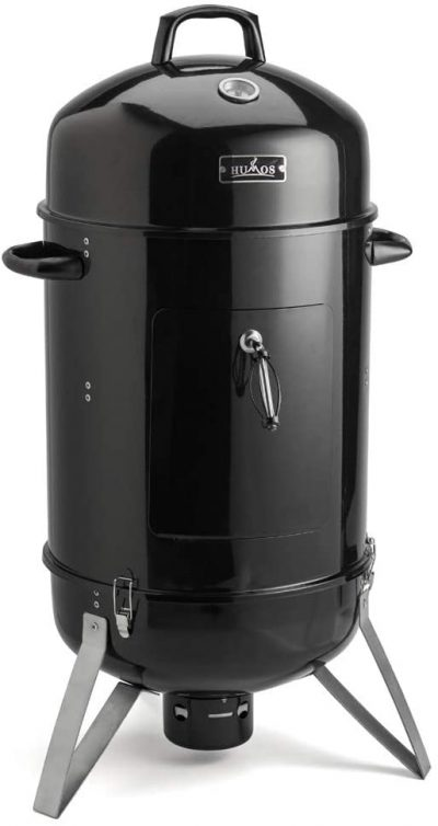 Humos Outdoor Vertical Charcoal Smoker 3 in 1 Oven + Smoker + Grill