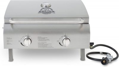 Pit Boss Grills Stainless Steel 2 Burner Portable Grill