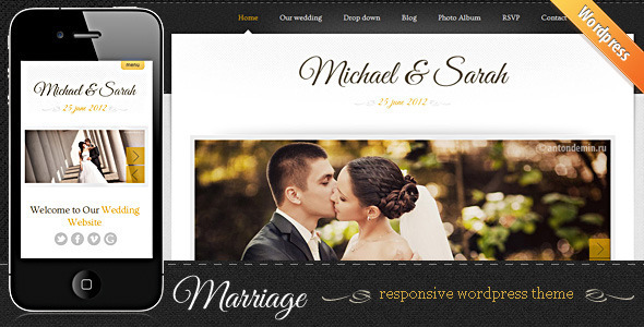 Marriage - Wedding WordPress Theme.