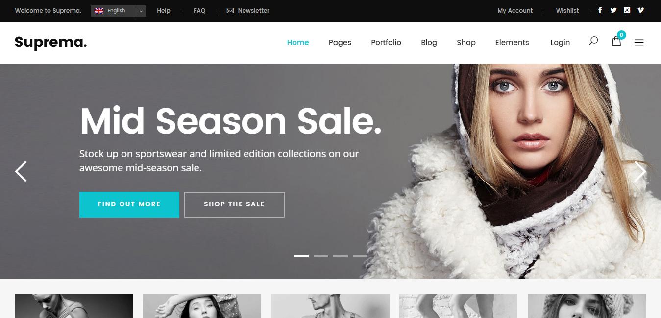 Suprema - multi store WordPress themes