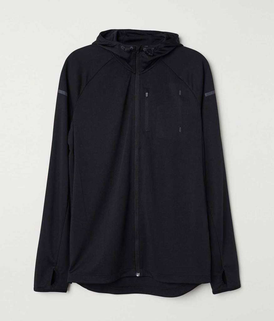 Hooded running jacket simple
