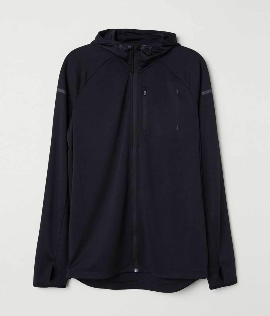 Hooded running jacket simple