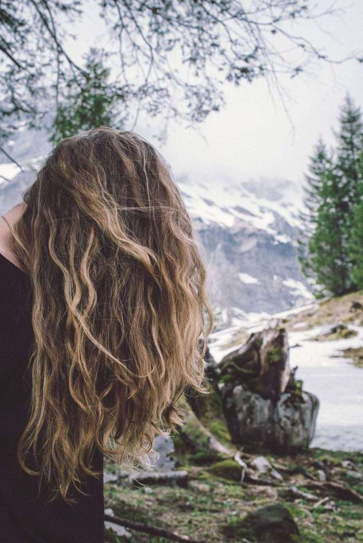 Girl hair in nature