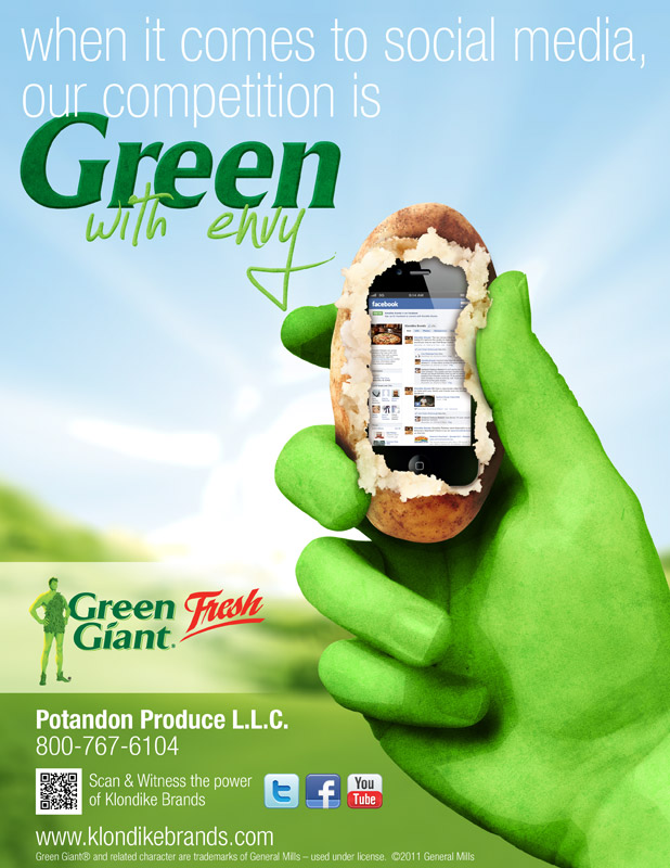Potandon Produce - Green with Envy ad