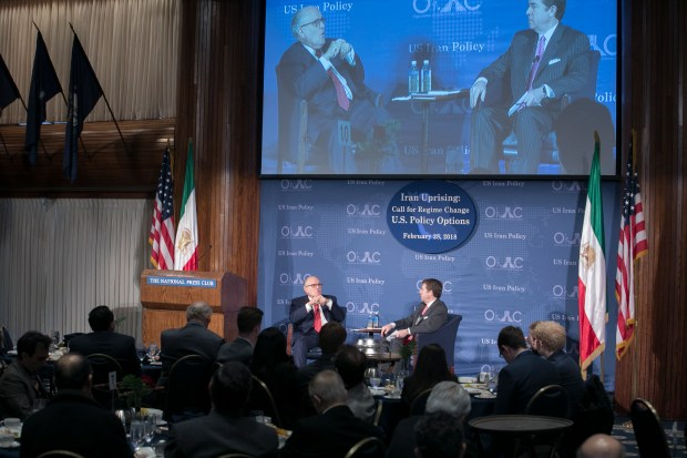 National Press Club, Washington, DC, Rudy Giuliani speak on Iran Uprising: Call for Regime Change; U.S. Policy Options