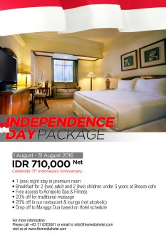 INDEPENDENCE ROOM PACKAGE