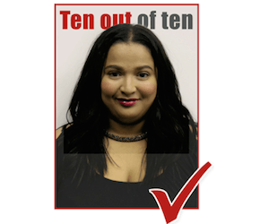 ten out of ten LESLEY-ANN FORTUIN