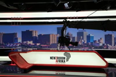 Behind the scenes at Newzroom Afrika, the TV channel for the woke nation
