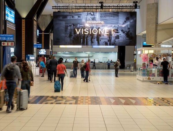 Airport Ads bolsters Visionet network with massive screen at O.R Tambo