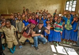 Beaux Foy at a Rwanda School