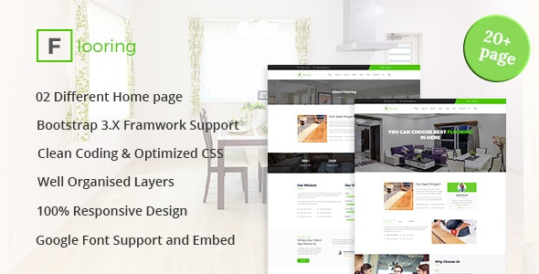 Flooring - Flooring, Tiling, Paving services HTML5 Responsive Template
