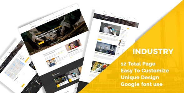 Industry - Industral , Engineering & Factory HTML5 Responsive Template