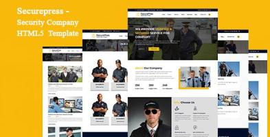 Securepress - Security Company HTML Responsive Template