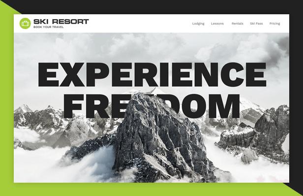Ski Resort WordPress Theme