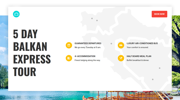 Book Your Travel Tour Landing Page
