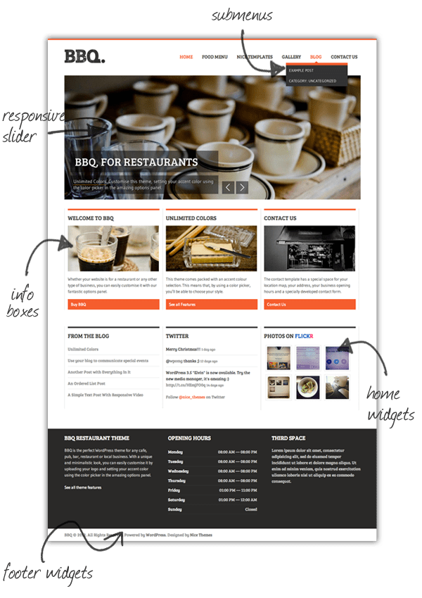BBQ - Restaurant WordPress Theme - 1