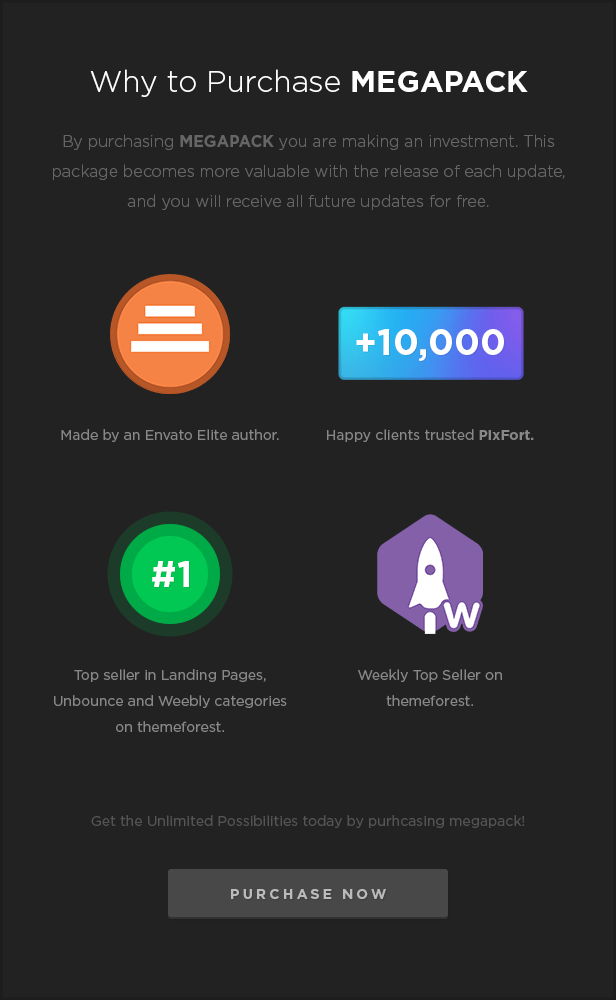 MEGAPACK – Marketing HTML Landing Pages Pack + PixFort Page Builder Access - 45