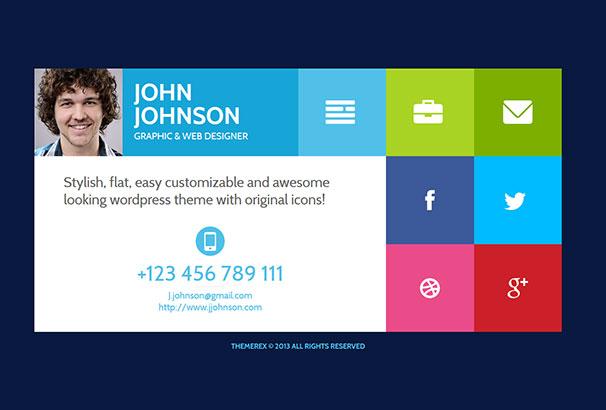 1 - Wordpress Resume Theme