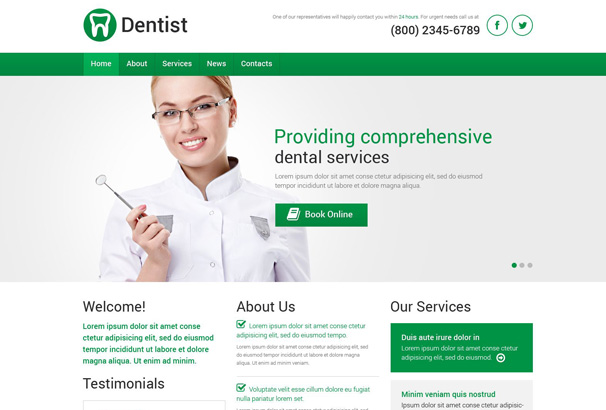 22+ Best Dentist WordPress Themes for 2017 [Updated]