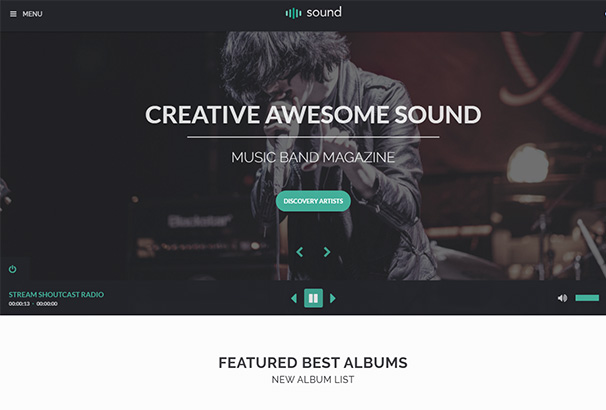 themeforest 6 Sound Artist