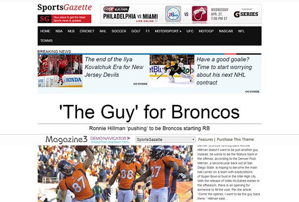 CM 9 Sports Gazette