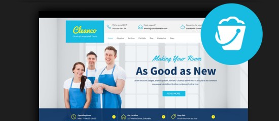 Best Cleaning Company WordPress Themes