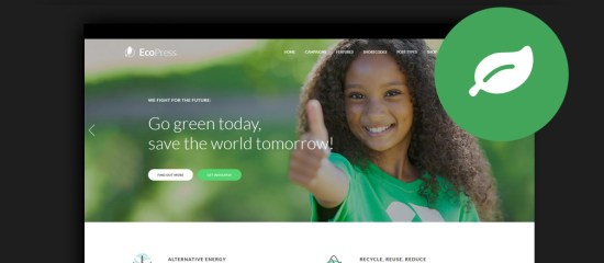 Eco & Environmental WordPress Themes