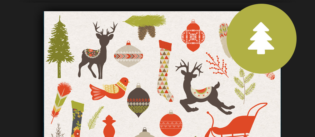 50+ Best Christmas Graphics, Clipart, Icons & Illustrations