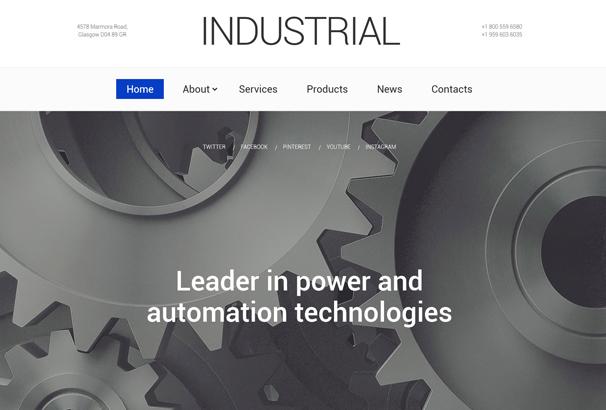 industrial-technology-website-template