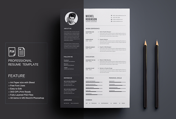 50+ CV / Resume & Cover Letter Templates For Word & PDF 2017