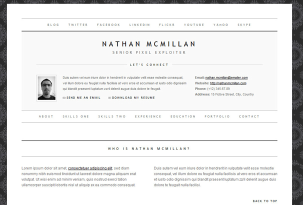 50 Best HTML CV Resume Templates to Download 2017 – Resume Template Html
