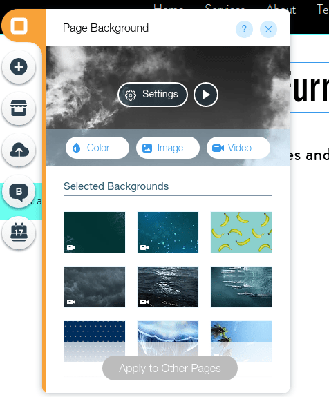 Wix Backgrounds
