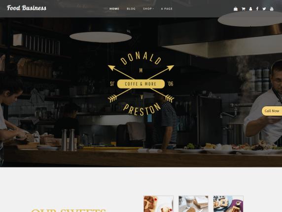 Food-Business-free-WordPress-themes-for-food-blog