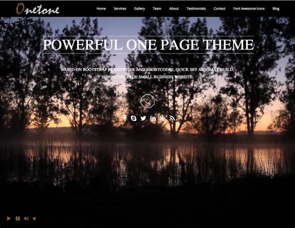 onetone - free one page wordpress themes collection